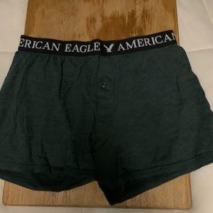 Men's Medium Green AE Boxers, Button Fly